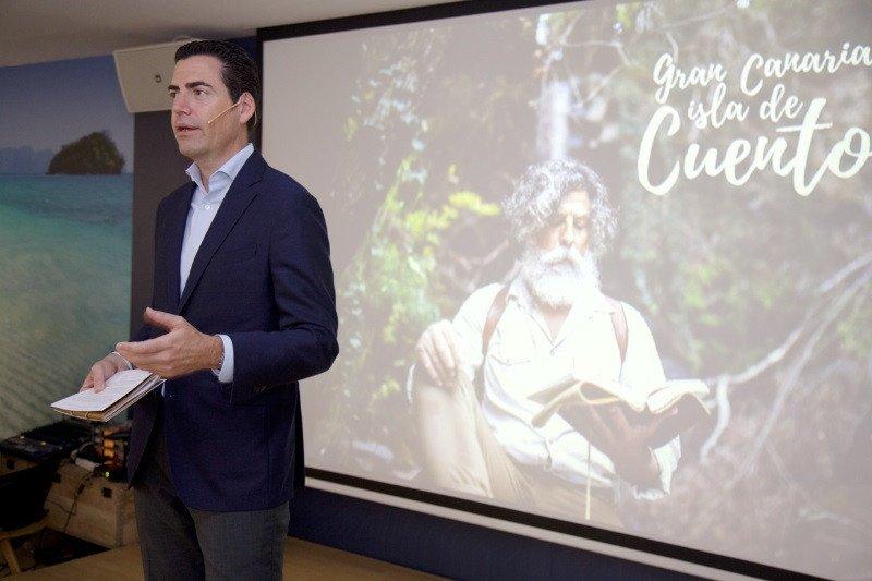 Pablo Llinares, gerente del Patronato de Turismo de Gran Canaria, presentó ayer la campaña en Madrid, en la sede de Pangea, The Travel Store.
