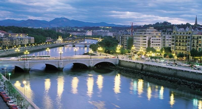 Imagen del centro urbano de San Sebastián