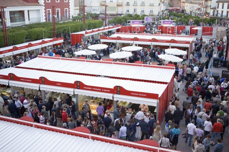 La Feria de los Sabores de Alcázar de San Juan se celebra en el centro de la localidad.