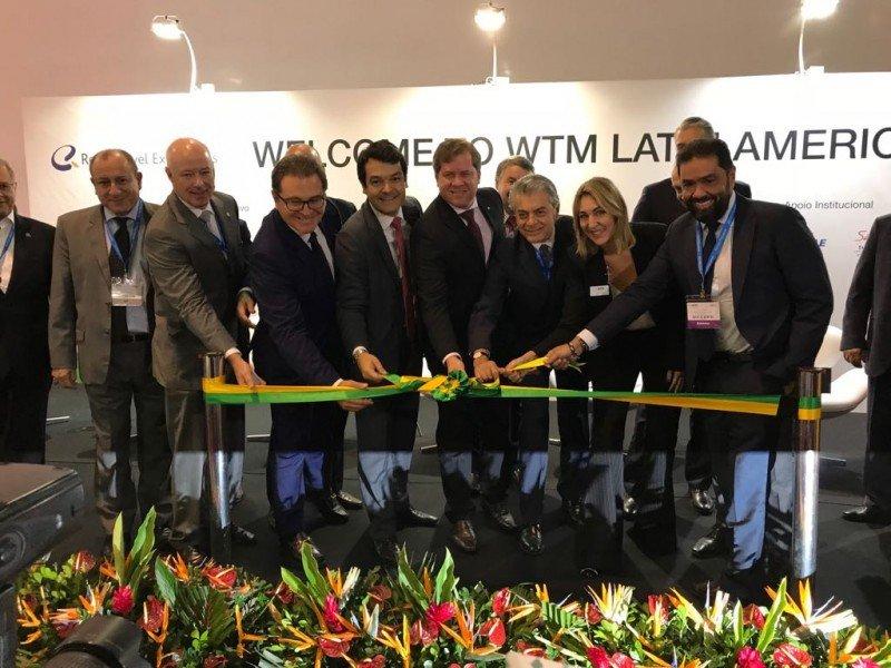 Inauguración de la feria WTM Latin America 2018.