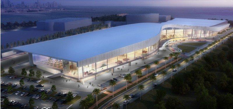El nuevo Centro de Convenciones de Amador (CCA) en Panamá, que registra un avance del 68% de construcción.