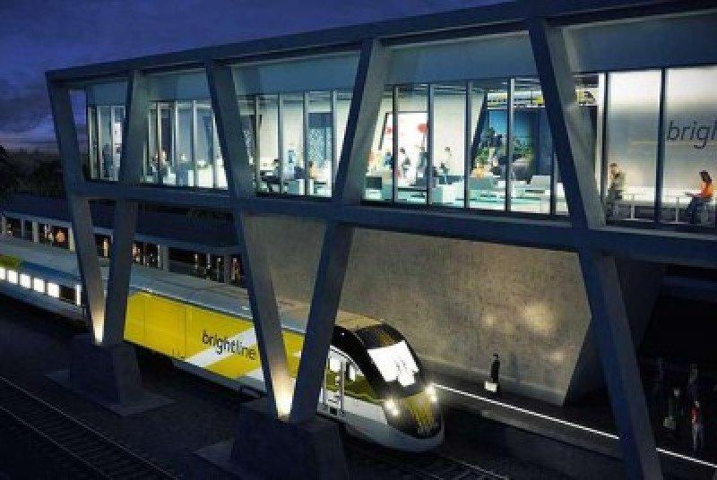 Estación de West Plam Beach del tren Brightline.