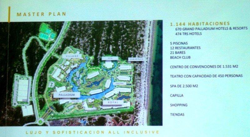 Master Plan del proyecto de Palladium en Costa Mujeres.