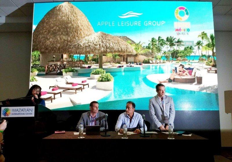 Directivos de Apple Leisure Group  y AMResorts hicieron anuncios en el Tianguis Turístico 2018 de Mazatlán.