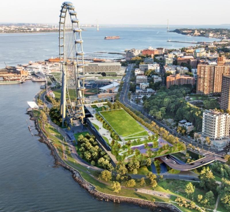 La rueda gigante que abrirá en junio en Staten Island se convertirá en la más alta del mundo, y está previsto que reciba 30.000 visitantes diarios, sumando cuatro millones al año.