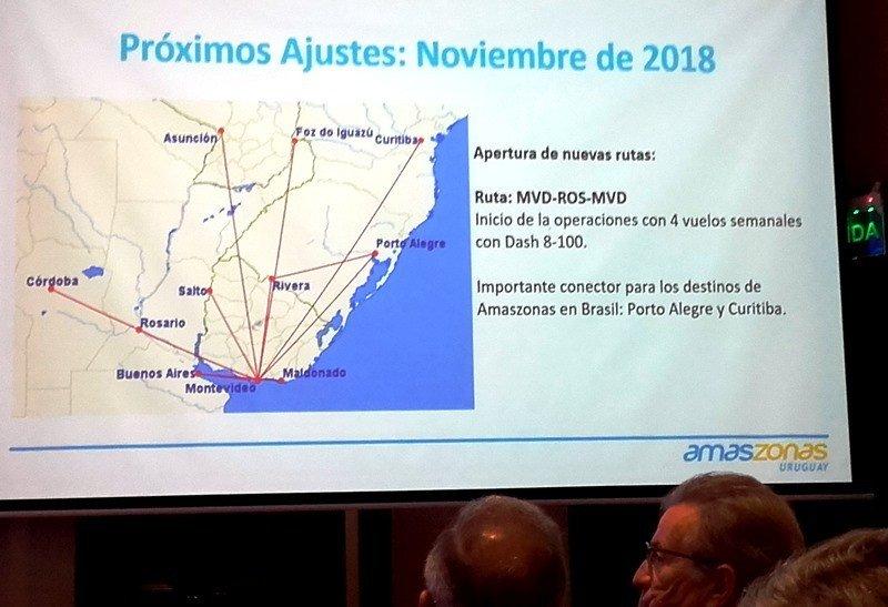 Malla proyectada por Amaszonas Uruguay para noviembre 2018.