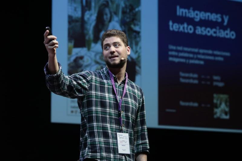 El investigador tecnológico Raul Gómez, durante su participación en el congreso TurisTIC 2018, celebrado recientemente en Barcelona