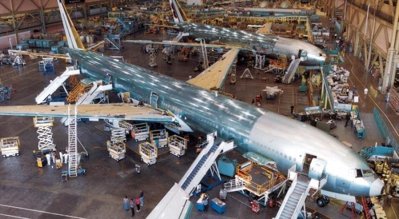 Planta de Boeing en Seattle.