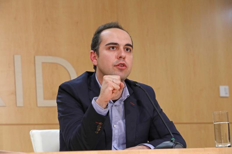 José Manuel Calvo, durante su comparecencia ayer tras la Junta de Gobierno.