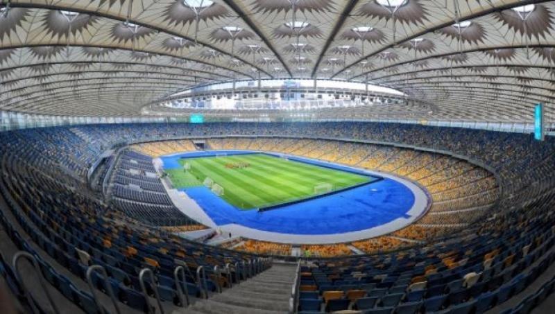 Estadio de Kiev, donde se enfrentará el Real Madrid y el Liverpool.