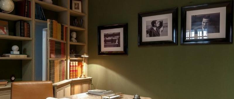 El despacho del ex presidente se ha conservado como parte del hotel.
