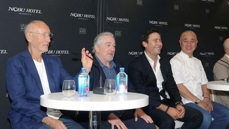 Teper, De Niro y Matsuhisa ayer en Marbella. Foto: Efe.