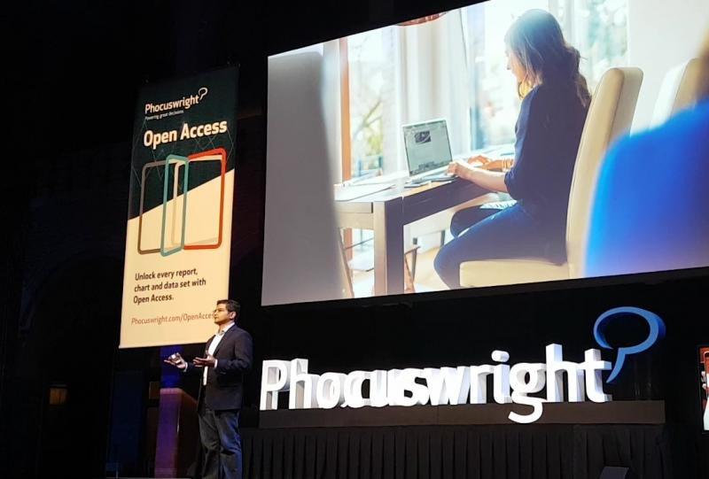 Nikhilesh Ponde, director de estrategia global de viajes de Facebook, en la conferencia Phocuswright Europe que ha tenido lugar en Amsterdam esta semana.