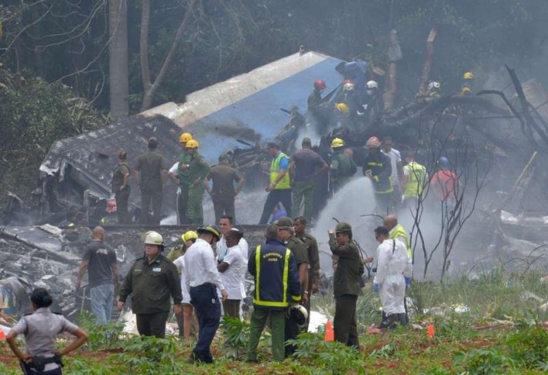 Una de las primeras fotos del siniestro, de Adalberto Roque, AFP.