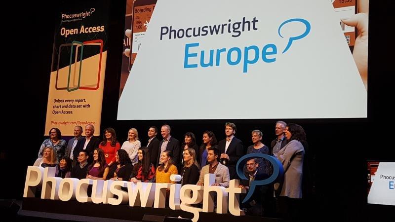 El equipo de Phocuswright, al finalizar la conferencia que tuvo lugar en Ámsterdam del 15 al 17 de mayo