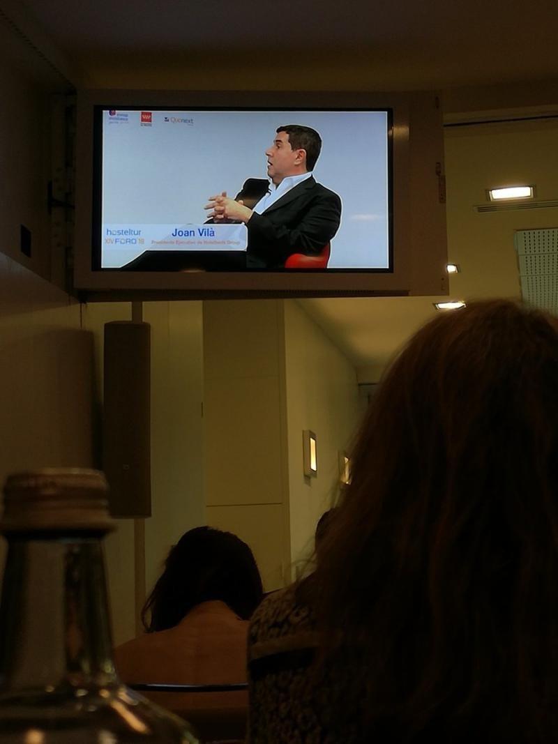 Joan Vilà, en directo en el Foro Hosteltur