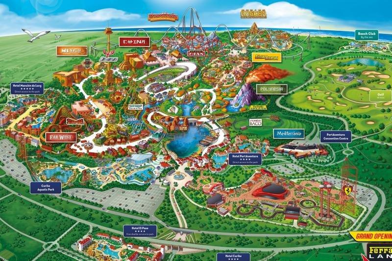 Mapa del parque temástico PortAventura World