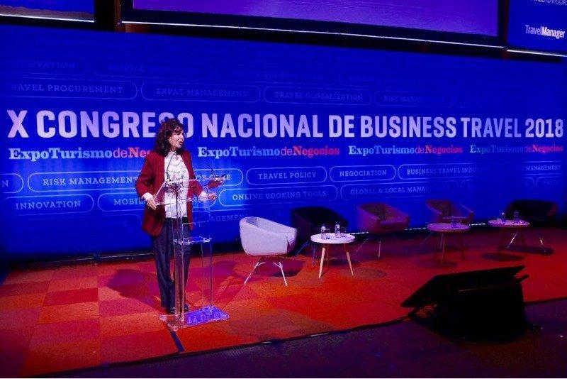 En su intervención en el acto de inauguración de la feria, Matilde Fernández destacó la importancia del sector de los viajes de negocios para la generación de riqueza y empleo.