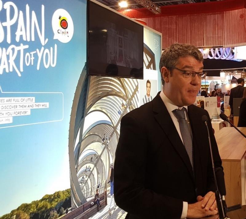 El ministro de Energía, Turismo y Agenda Digital, Álvaro Nadal, en un acto de promoción turística de España en la feria World Travel Market de Londres.