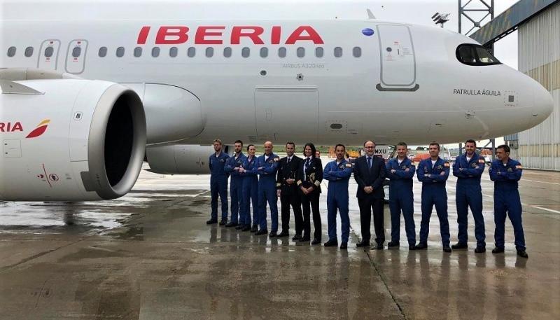 El primer A320neo de Iberia aterriza en Madrid-Barajas (Foto: Iberia).