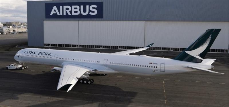Cathay Pacific estrena su primer Airbus A350-1000 en España