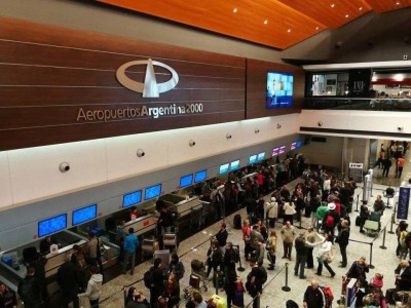 Aeropuerto el Plumerillo de ciudad de Mendoza.