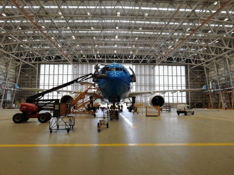 Aerolíneas Argentinas pone en funcionamiento su nuevo hangar