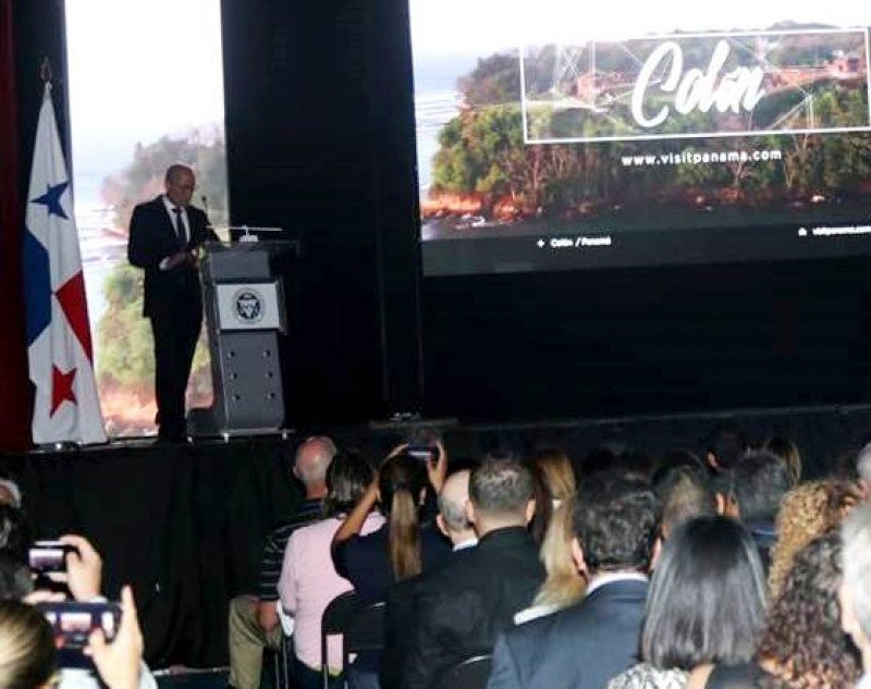Gustavo Him en la apertura de la feria Expo Turismo Internacional 2018. Foto: ATP Panamá.