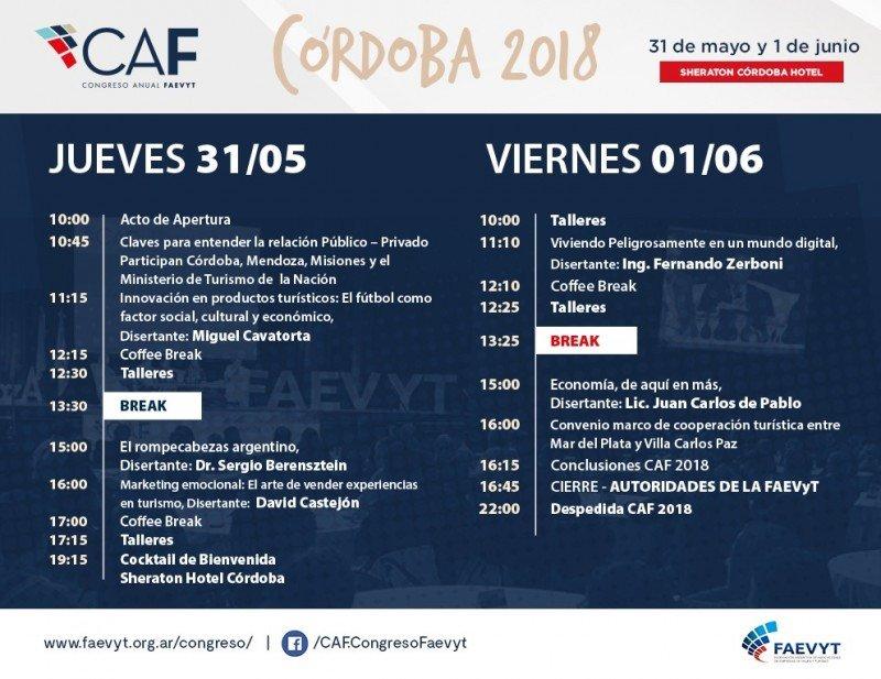 Programa CAF 2018.