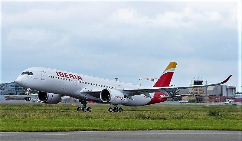El A350-900 en versión mejorada de Iberia.