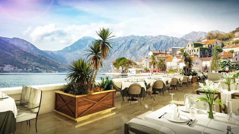Vista desde uno de los restaurantes del Iberostar Perast.