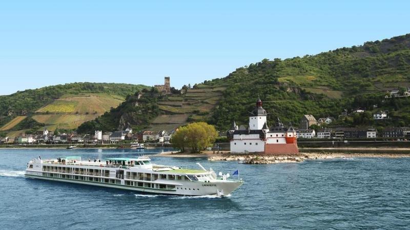 Imagen del recorrido de CroisiEurope por el Rin romántico.