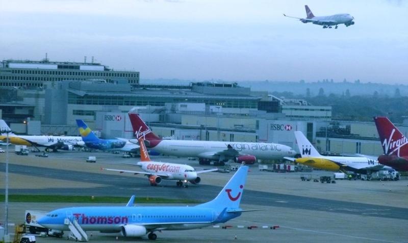 Una imagen de archivo del aeropuerto de Gatwick Londres.