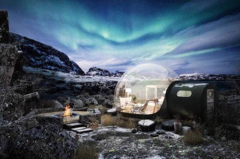 La empresa española Eye in the Sky ya ha instalado 250 burbujas hinchables en todo el mundo, que complementan la oferta alojativa del hotel.
