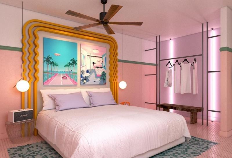 Paradiso Art Hotel, inspirado en la estética MiMo –Miami Modern–, invita a disfrutar de Ibiza de una forma diferente a través del arte y propuestas artísticas de calidad.