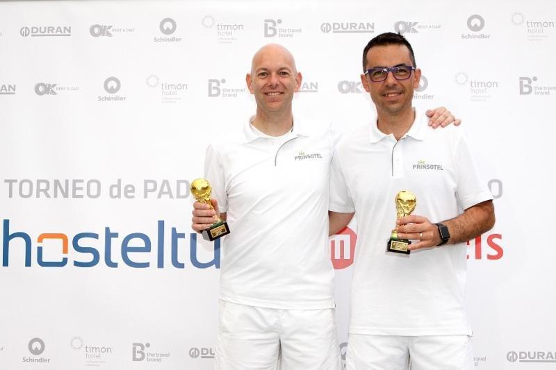 Miguel Ques y José Luis Martínez, de Prinsotel, quedaron en tercer lugar.