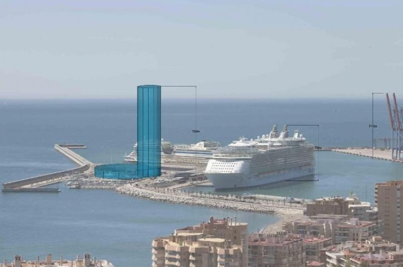La altura se ha definido en función de los elementos que lo rodearán, incluyendo los cruceros.