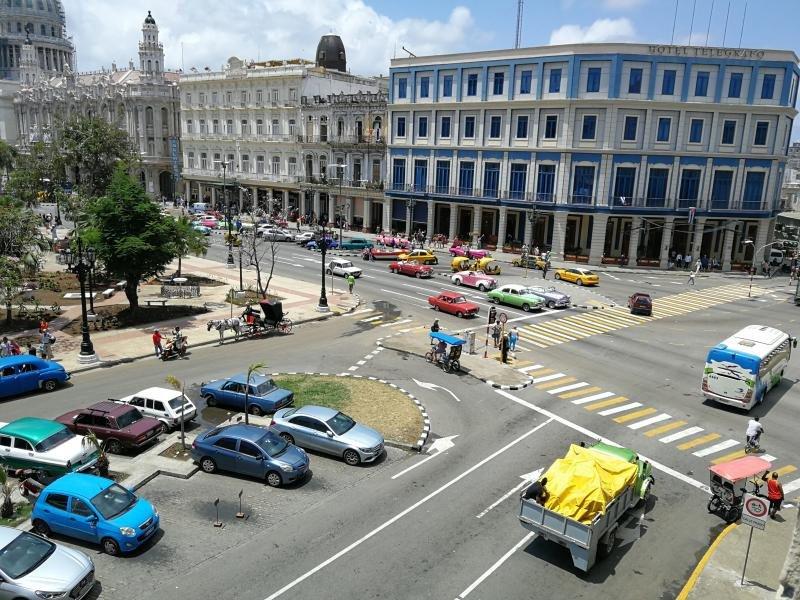 Vista desde mi habitación en el Iberostar Parque Central en La Habana. Foto: Hosteltur.