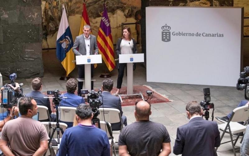 El presidente de Canarias y la presidenta de Baleares, en una imagen retrospectiva.