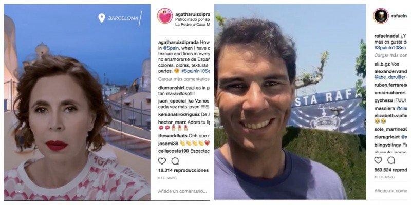 España recurre a personalidades famosas para promocionarse en 10 segundos