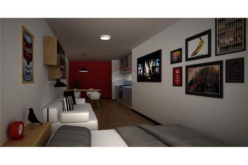 Proyección de apartamento en Apart Hotel Quijano.