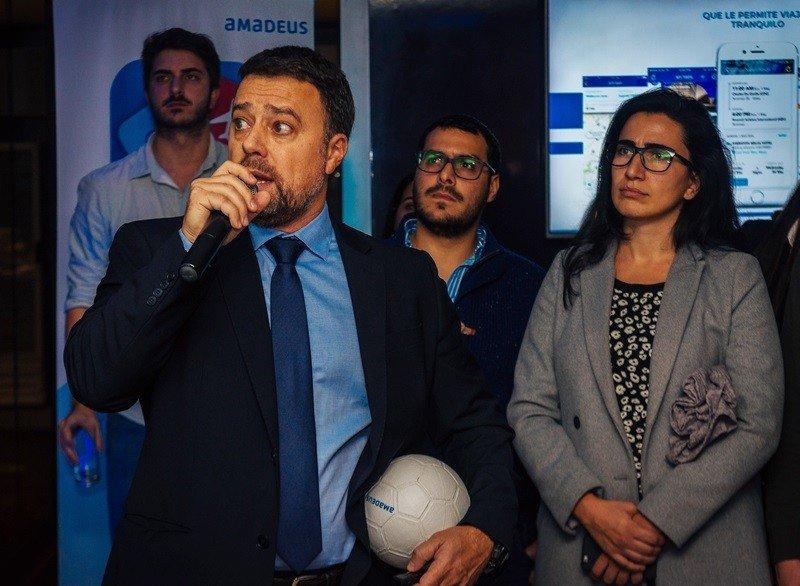 Nicolás de los Reyes, country manager de Amadeus para Uruguay en el roadshow 2018.
