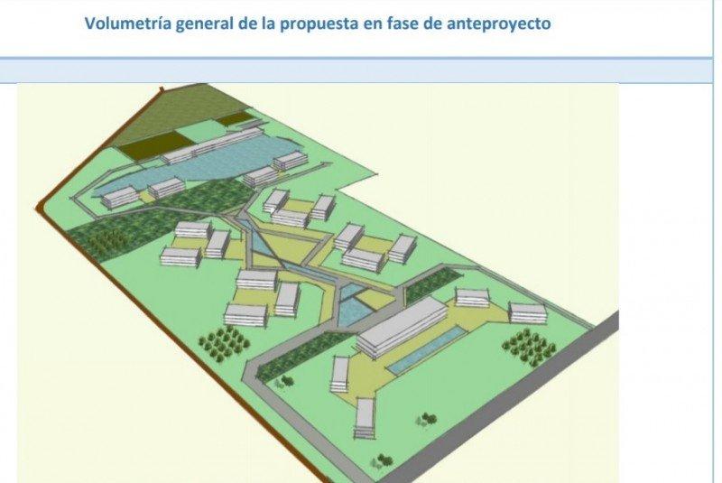 Render del proyecto de las edificaciones sobre las 23 hectáreas de terreno.