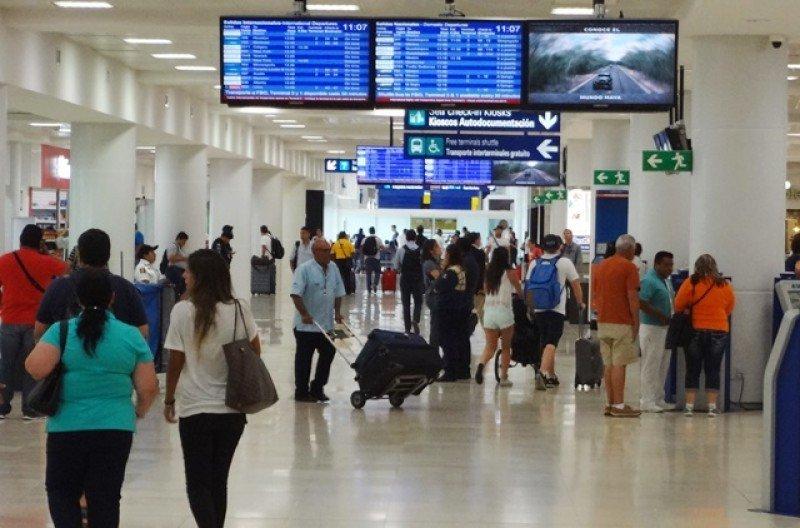 Aeropuerto de Cancún sumó más de dos millones de pasajeros adicionales en 2017.