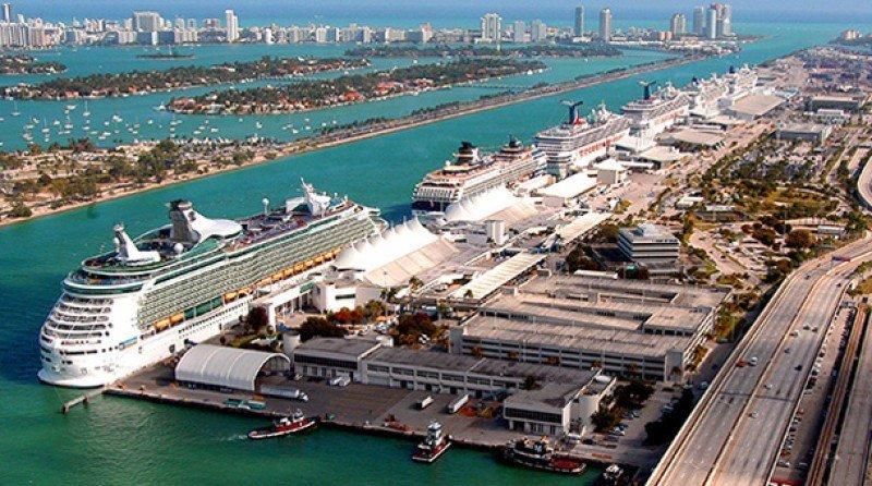 Puerto de cruceros de Miami.