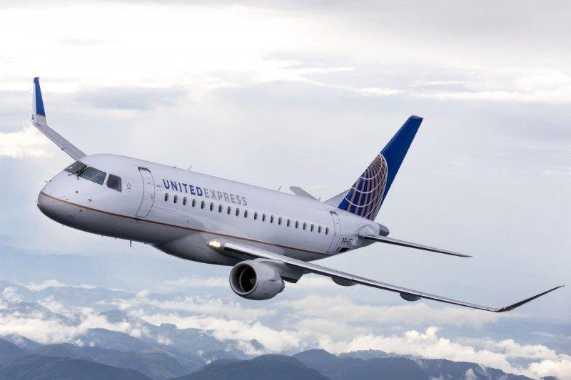 El modelo Embraer E-175 gana espacio en la flota de United.