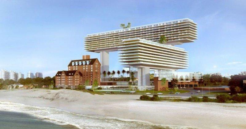 La inversión de Cipriani con proyecto del arquitecto Rafael Viñoly fue aprobada por la Junta Departamental de Maldonado.