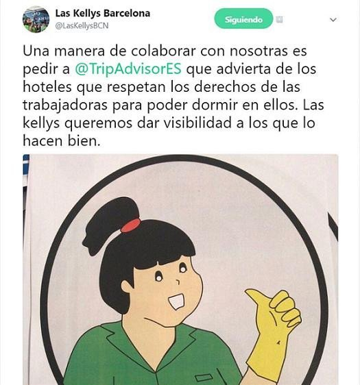 Imagen Las Kellys piden a TripAdvisor indicar qué hoteles respetan sus derechos