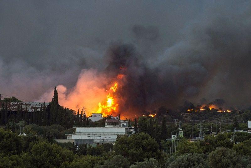 Imagen Incendio en Grecia: el fuego afecta a uno de los destinos del turismo nacio