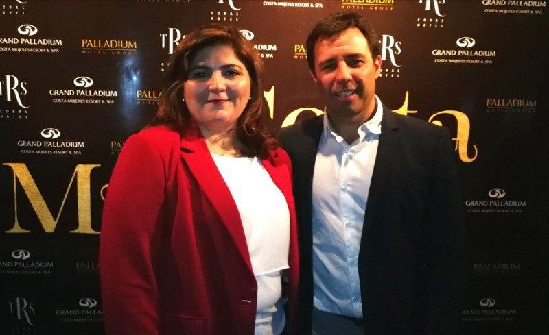 Verónica Armani (directora comercial de Palladium en el Cono Sur) y Mario Viazzo (Director Comercial para América Latina)